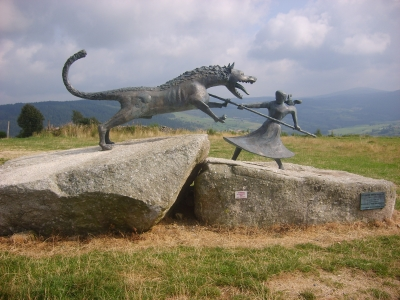 Famous Sculpture of The Beast of Gevaudan