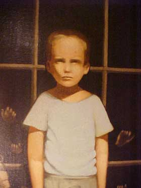 "Close up of just the boy in ""The Haunted Painting"""